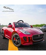 Authorized Jaguar F-TYPE 12V Kids Battery Powered Ride On Car Leather Seat-Red - $296.99