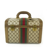 Gucci Monogram Train Case Beauty Vanity Box Toiletry Luggage travel Bag ... - $543.51