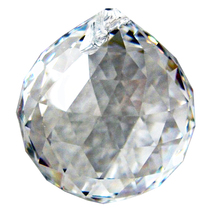 Swarovski 30mm Clear Crystal Faceted Ball image 1