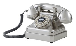 Retro Chrome Phone Vintage Push Button Telephone Rotary Landline Old Fas... - $64.99