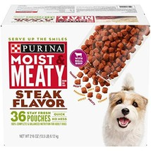 Purina Moist & Meaty Wet Dog Food, Steak Flavor - 36 ct. Pouch - $24.59