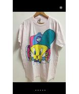 Vintage 90s Looney Tunes Warner Bros Cartoon Big Logo Shirt Streetwear - $100.00
