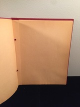Vintage 50s rope bound scrapbook covers with some blank pages inside image 7