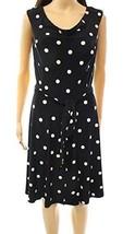 NWT Ralph Lauren Women's Polka Dot Print Jersey Dress, Black Size 12 - $51.74