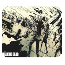 Mouse Pad The Walking Dead Zombie Scary Movie War For Game Animation Fantasy - $9.00