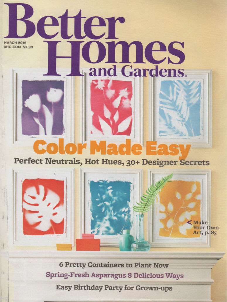 Primary image for Better Homes and Gardens March 2012 Color Made Easy Designer Secrets