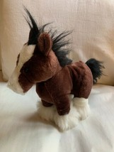 Ganz Webkinz Clydesdale Horse Stuffed Animal Plush Toy Used Nice Condition - $18.70