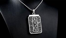 Steel Soldier Dragon / Chinese Theme Men's / Gents Charm Pendant / Necklace image 2