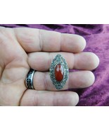 Vintage Cut Glass 925 Sterling Silver Ring (Size 6)  - $34.64