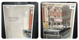 1964 Pontiac Grand Prix Fitz & Van Art  2 Page Original Print Ad  - $8.90
