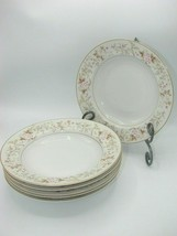 EUC Set of 6 RARE MIKASA ROSE CREST Fine China L9027 Rim Salad/Soup Bowls - $26.22