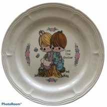 Precious Moments Salad Plate Enesco 1994 Love One Another - $5.00
