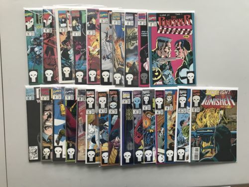 Lot of 25 Punisher War Journal (1988 1st Series) from #26-84 VF Very Fine