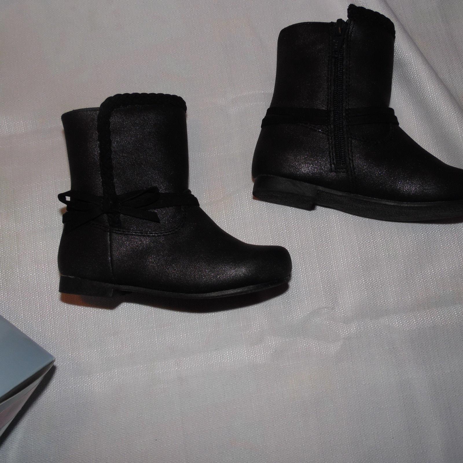 Koala Kids Toddler Girls  Black  Boots Size 8 Shoes NWT