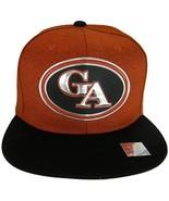 Georgia GA Oval Style Cotton Snapback Baseball Cap (Red/Black) - $12.95