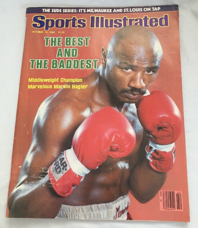 Primary image for 1982, 10/18 Sports Illustrated,Boxing,magazine,Marvin Hagler Middleweight Champ!