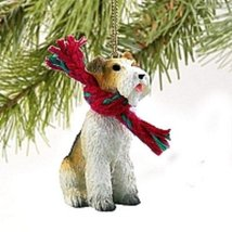 Wire Fox Terrier Red Original Ornament - $15.99