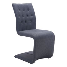 Dining Room Chairs Set, Gray Hyper Upholstered Modern Dining Chair, Set ... - £390.72 GBP
