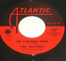 45 RPM The Drifters Christmas Song I Remember XMAS Atlantic Vinyl Record... - £6.87 GBP