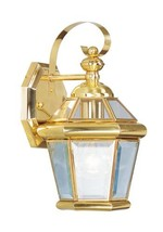 Livex Lighting 2061-02 Outdoor Wall Lantern with Clear Flat Glass Shades, Polish - $137.86