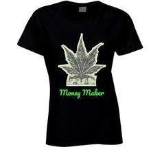 Money Maker 420 Canna Ladies T Shirt image 1