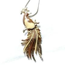 C55 Enamel on gold Phoenix pendant - $18.20