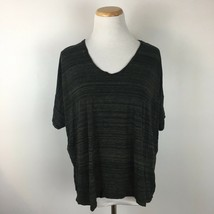 Gap Women's Gray Short Sleeve Boho Scoopneck Stretch Fit Tee Shirt Size ... - $12.86
