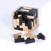 Educational Wood Brain Teaser Puzzles For Adults Kids 3D Wooden Baby Kid's  - $11.99