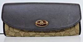 Coach F53538 Outline Signature Slim Envelope Wallet Brown/Fuchsia $225 NWT - $98.95