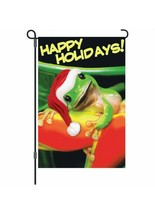 Mr Holiday Frog Christmas Garden Flag - 12 x 18 inches - $8.79