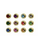 Caflon Surgical Steel Mini Gold 3mm Ear Piercing Earrings Studs 12 Pair ... - $18.95