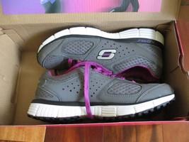 BNIB Skechers Perfect Fit Women's Light weight running Shoes, Grey/purple - $49.99