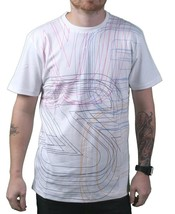 WeSC We Are The Superlative Conspiracy White Mens Icon Outline Biggie T-Shirt NW