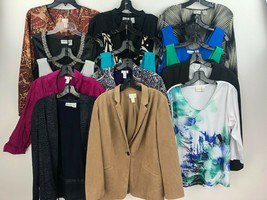Chicos Lot of 15 Womens 2 Tops Blouse Cardigan Jacket Work Career FOSCC ... - $125.99