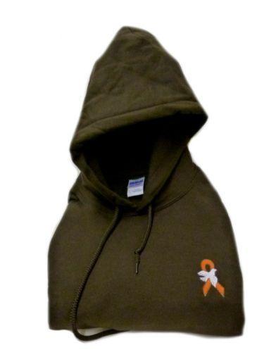 Leukemia Awareness Hoodie M Orange Ribbon White Dove Sweatshirt Unisex New