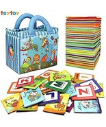 Baby Toy Zoo Series Soft Alphabet Cards with Cloth Bag alfabeto bebe be... - $30.79