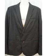 Kenneth Cole Reaction Mens Blazer Sz L 44 Solid Black Business Work Jack... - $59.35