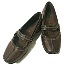 Clarks Mary Jane Bendables Women's 6 M Brown Leather Shoes - $21.29