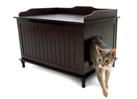 Designer Catbox Litter Box Enclosure - Espresso - Free Shipping In The U.S. - $205.95