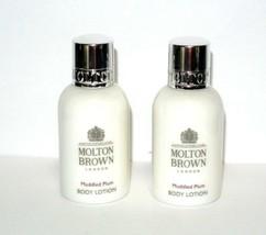2 x Molton Brown Muddled Plum Body Lotion 1.7 fl.oz each travel - $16.78