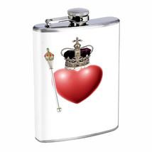 Royal Heart Em1 Flask 8oz Stainless Steel Hip Drinking Whiskey - $13.81
