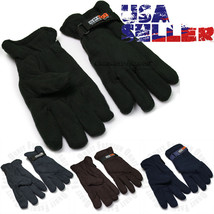 Winter Gloves Warm Snow Fleece Insulated Thermal Mitten Velcro Ski Mens ... - $75,74 MXN