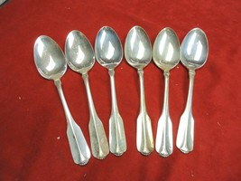 6 Lady Hamilton Silverplate Place Soup Spoons Community Oneida (Cube)  1985 - $16.96