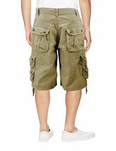 Men's Relaxed Fit Multi Pocket Cotton Casual Military Cargo Shorts image 5