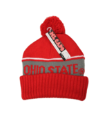 Ohio State Adult Unisex Red/Gray Cuffed Pom Beanie, One Size - $9.89