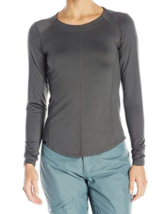 Small 2-4 Dakine Women's Sandy Crew Baselayer Shirt Long Sleeve Shadow Gray
