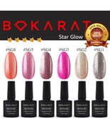Shimmering Color Bokarat Gel Nail Polish 7.3 ml Soak Off UV LED High Qua... - $3.82+