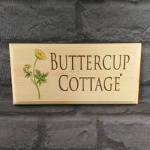 Personalised Buttercup Sign, House Name Plaque Number Garden Gifts Shed Nanny - $12.35
