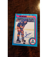 1979-80 OPC Signed Auto Card Ron Chief Delorme Colorado Rockies Canucks - $75.54