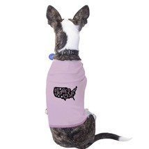 I Love USA Map Pink Pet Shirt For Small Dogs Gifts For Dog Owners - $14.99